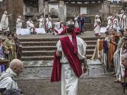 Caesar's assassination re-enacted in Rome