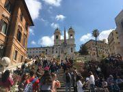 Rome's Spanish Steps in full bloom