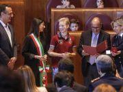 Rome honours fencing medalist Bebe Vio