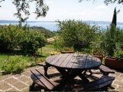 In villa overlooking Lake Bracciano.