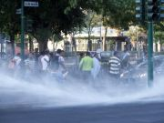 Clashes between police and evicted migrants in central Rome