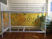 Bunk bed frame and two mattresses