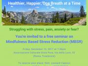 Free Seminar - Mindfulness Based Stress Reduction