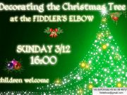 Decorating the Christmas tree at Fiddler's Elbow
