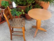 Antique small wicker chair
