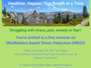 Free Seminar on Mindfulness Based Stress Reduction (MBSR)