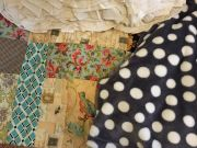Lot of twin bedding and other household items