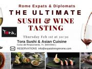 1 Feb - Rome Expats The Ultimate Sushi & Wine Tasting (Piazza Navona)