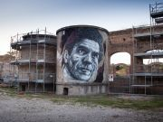 Forgotten urban art project in Rome