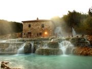 Saturnia hot springs in Tuscany