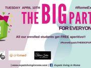 10 Apr - Rome Expats & Sponsors: The Big Party!