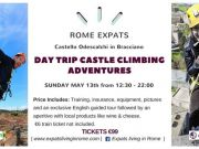13 May - Rome Expats: Day Trip Castle Climbing Adventures in Bracciano
