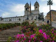 Rome's Spanish Steps blooms with azaleas
