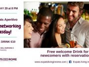 29 May - Rome Expats: Flirt After Networking on Tuesday Aperitivo (TESTACCIO)
