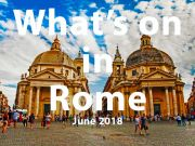 June 2018 events in Rome