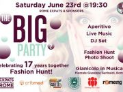 "23 June - Rome Expats & Sponsors: The BIG Party 2 ""Celebrating 17 Years Together"""