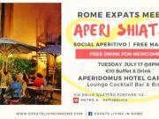17 July - Rome Expats Aperi Shiatsu Meetup