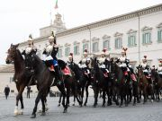 Changing of the Guard at Rome's Quirinal Palace