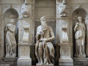 Michelangelo's statue of Moses in Rome
