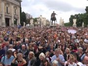 Rome mayor lashes out at city hall protestors