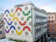 Daniel Buren creates monumental work in Rome