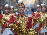 New Year's Day Parade on streets of Rome