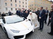 Pope Francis raffles his white Lamborghini