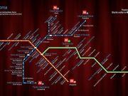 Rome's theatres on Metro map