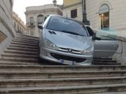 Drunk motorist drove down Rome's Spanish Steps