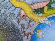 Street artist Blu creates new mural in Rome