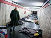 Rome shelters homeless from freezing conditions