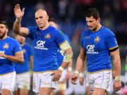 Italy's rugby team trains at Amatrice