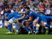 Italy vs France in Six Nations rugby in Rome