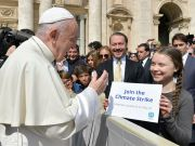 Greta Thunberg meets Pope Francis in Rome