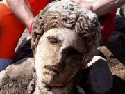 Marble head discovered in Roman Forum