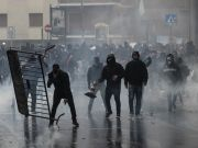 Football hooligans clash with Rome police