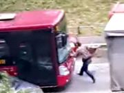 Rome bus company suspends driver who rammed pedestrian