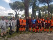 Rome prisoners cut grass in Villa Borghese