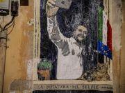 Salvini mocked in Rome street art