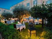 Garden restaurant on Rome's Palatine Hill