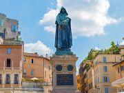 Giordano Bruno statue in Rome