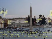 Rome piazza lights up each time baby is born
