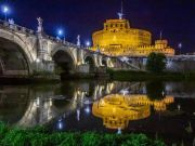 Rome lights up Castel S. Angelo