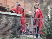Rome police swoop on Colosseum centurions