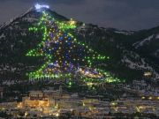 Gubbio: world's largest Christmas tree in Italy
