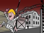Brexit: outrage over Auschwitz cartoon by Rome city artist