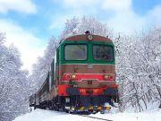Christmas snow train through Abruzzo