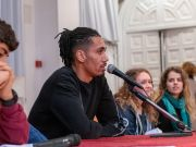 Chris Smalling visits St Stephen's School Rome