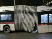 Rome bus breaks in half
