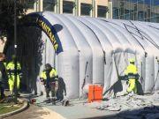 Coronavirus: Rome sets up triage tents outside hospitals